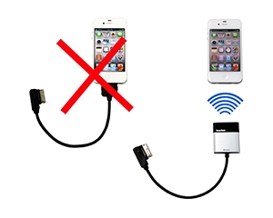 C. Bluetooth trådlös Ipod adapter. 30 pin