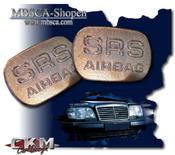 SRS skylt i krom för dörrsida. 2 st