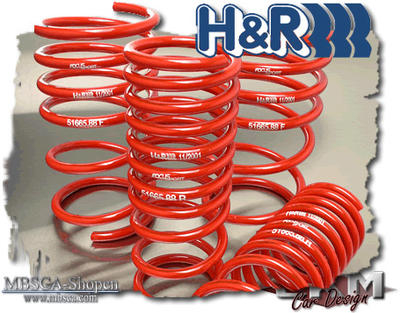 Sänkningssats. H&R 4 Fjädrar