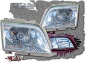 Klarglas frontglas för framlyckta 89-00 2st