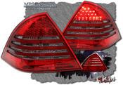 Klarglas Baklysen 2st Röd/Röktonad med dioder. 2st