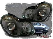 Klarglas projector framlysen svarta 2 st Halogen/Xenon
