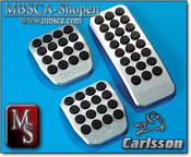 Carlsson Aluminium pedaler set med logo