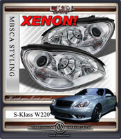 Klarglas facelift XENON framlysen 2st