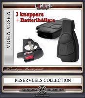 Nyckelskal + batterihållare 3 knappars 1st