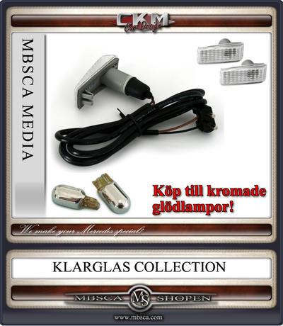 Blinkers sidoblinkers Vita Rektangulära+kabel 2 st