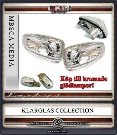 Klarglas Sidoblinkers Facelift V3 2 st