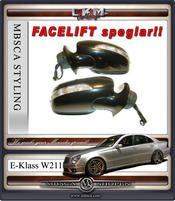 Speglar FACELIFT 1 st komplett manuell infällning
