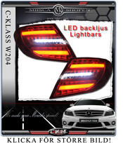 Klarglas baklysen LED C-Style  2st