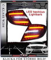 Klarglas baklysen LED C-Style  Smoke 2st
