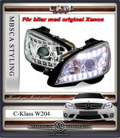 "Klarglas framlysen ""Devil eyes"" LED DRL Version 2  2st"