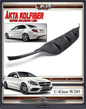 1. Kolfiber diffuser AMG C63 sport 1st