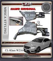 2. W216 AMG ORGINAL Slutdämparsystem med 4 pipor.