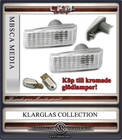 Blinkers sidoblinkers Vita Rektangulära 2 st