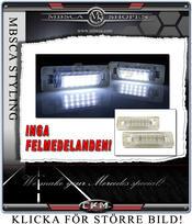 Klarglas LED nummerskyltbelysnig 2st