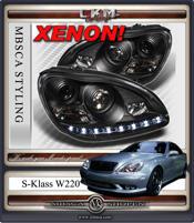 Klarglas facelift XENON framlysen DEVIL EYES Svarta 2st