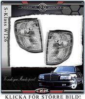 Klarglas blinkers fram W126 2st