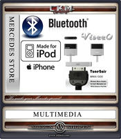 C. Bluetooth trådlös Ipod adapter. 30 pin