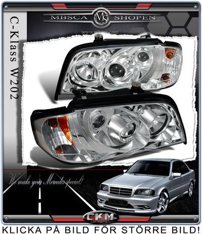 Klarglas framlysen 2st med integrerad blinkers.
