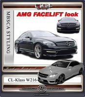 1. AMG facellift look front med original DRL ljus