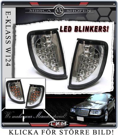 Klarglasblinkers LED DIODER 2st
