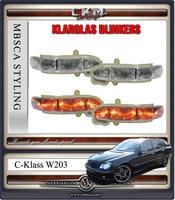 Klarglas Blinkers LED speglar. 2st