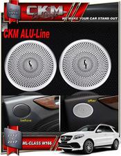 Alu-Line 2 st högtalar Alu look paneler bak.