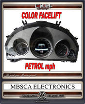 Facelift FÄRG hastighetsmätare BENSIN mph USA