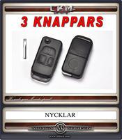 Nyckelskal 3 knappars 1st