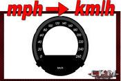 Mätartavlor mph till km/h 260km/h Pre-FACELIFT