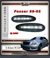 Klarglas Dimljus dagljus 2 st LED Dioder för kofångare 99-02