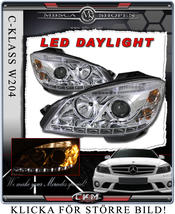 "Klarglas framlysen ""Devil eyes"" LED DRL 2st"