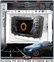 "C4. Facelifting Produkt Comand enhet i ""MB LOOK"" DVD NAVI Bluetooth Touch Screen mm.."
