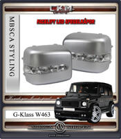Klarglas LED spegelkåpor Silver 2st