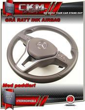 1. Ratt original GRÅ Skinn MED airbag