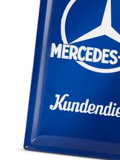 Mercedes verkstadskylt i plåt