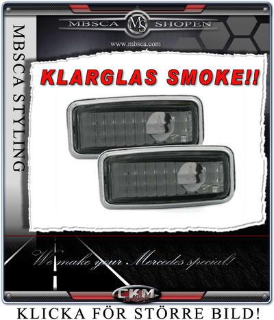 Klarglas Sidoblinkers smoke 2 st