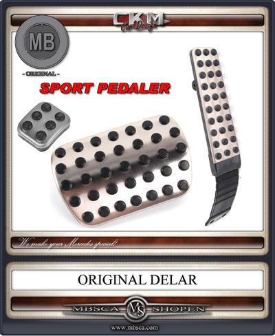 Pedaler i Aluminium MB Orginal Aut