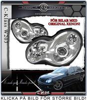 """Klarglas framlysen """"C55 look"""" 2 st För Original Xenon bilar"""