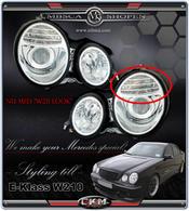 """Klarglas projektor strålkastare klar """"W211 LOOK"""". 2st"""