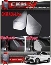 Alu-Line 2 st högtalar Alu look paneler front.