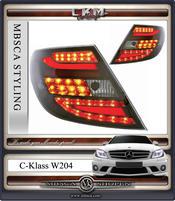 Klarglas baklysen LED C-Style V2 smoke 2st