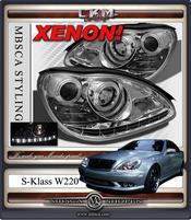 Klarglas facelift XENON framlysen DEVIL EYES 2st