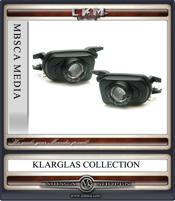 Klarglas Dimljus projektor i svart. 2st
