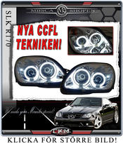 Klarglas framlysen CCFL Angel Eyes med blinkers 2st